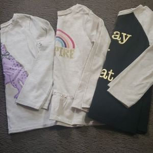 (3) 5T long sleeve shirts